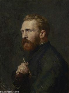 John Russell, Vincent van Gogh, Oil on canvas, x cm. Van Gogh Museum, Amsterdam (State of the Netherlands). Van Gogh Portraits, Van Gogh Self Portrait, Portrait Art, Portrait Paintings, Pencil Portrait, Vincent Van Gogh, Van Gogh Museum, Aesthetic Painting, Aesthetic Art