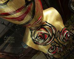 Gartenfiguren - Handbemalter Torso: Golden Rose - ein Designerstück von ArtBoxMunich bei DaWanda