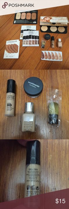 8 item foundation bundle 8 item bundle of various foundations from various high end brands. All are BRAND NEW and have never been opened.                    Check out my other makeup/skin care items as well to make a bundle!! 😁 Sephora Makeup Foundation