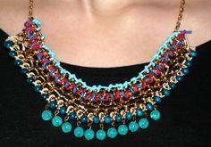 #statement #necklace #diy #doityourself #collar #chain