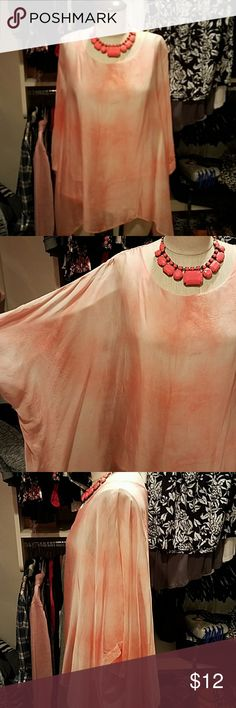 Soft Surrounding silk top small pink Beautiful flowy silk tunic style top size small has a soft attached tank underneath  preowned in good shape, priced to sell fast! Only thing wrong is its missing its tag, always made me itch so i removed it. Paid 140 new so its a steal! Looks fab on!!! Soft Surroundings Tops Blouses