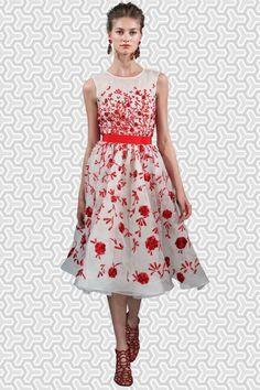 New latest white & red colour semi stitched designer western wear
