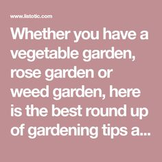 Whether you have a vegetable garden, rose garden or weed garden, here is the best round up of gardening tips and ideas that you've probably never tried! All of these little tricks are resourceful ideas for beginners or even the novice green thumb.