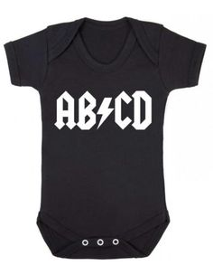 "Baby #bodysuit funny "" #abcd"" acdc #parody baby grow fun - bnwt, View more on the LINK: http://www.zeppy.io/product/gb/2/281602179733/"