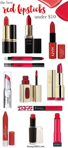 Love a red lip, but prefer not to spend a fortune? This best drugstore red lipstick list is just what you need! There's one (or more!) choice for every skin tone, and the red lipstick beginner!