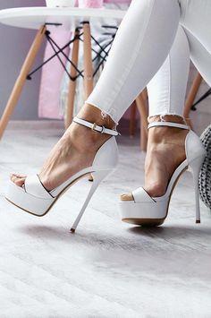 1adbc983f23 White High heels  platformhighheelswhite  Highheels