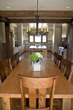 Beautiful Rustic Dining Room Ideas - These chairs might work with our dining room table