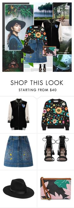 """""""Down on Earth[+my cover songs]"""" by rainie-minnie ❤ liked on Polyvore featuring Oris, Nana', Anna Sui, Victoria, Victoria Beckham, Alice + Olivia, Zimmermann, Lack of Color and FOSSIL"""