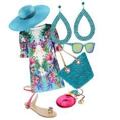 Azzurro come l'oceano, brillante come il cielo dei Caraibi è l'outfit che ci fa sentire già in vacanza! #outfit #consiglidistile #look #tendenzemodadonna #fashion