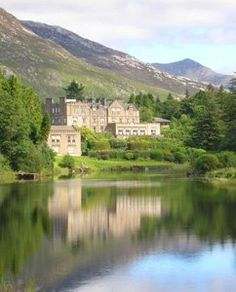 The castle at Bally Nahinch in Connemara