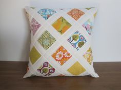 Love this lattice pillow! Sewing Pillows, Diy Pillows, Decorative Pillows, Throw Pillows, Pillow Ideas, Patchwork Cushion, Quilted Pillow, Quilting Projects, Sewing Projects