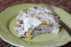 Green Chile Chicken Enchiladas recipe by Barefeet In The Kitchen