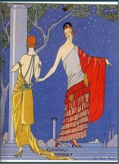 Deux robes fantaisistes de Paul Poiret  La mode des années folles