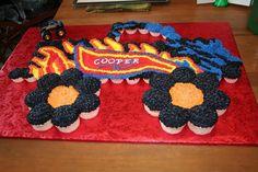 monster truck cupcake cake - Google Search