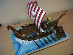 Viking boat cake by ~artsy-chemist69 on deviantART