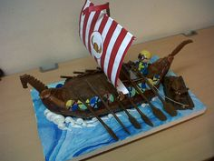 Viking boat cake by ~artsy-chemist69 on deviantART