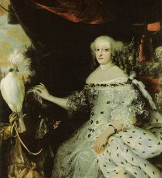 Queen Sophie Amailie of Denmark, consort of King Frederick III of Denmark. Her parents were George, Duke of Brunswick-Lüneburg and his wife Anne Eleonore of Hesse-Darmstadt. She became Queen of Denmark in 1648 & had 8 children, including King Christian V of Denmark and Ulrike Eleonora of Denmark who married King Charles XI of Sweden.  Imprisoned her half-sister-in-law in dire conditions for 22 years.  Arrogant, political, fierce--not a good enemy.