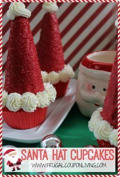 Save these holiday recipes for special occasions christmas frugal coupon livings santa hat cupcakes recipe with an ice cream cone do it yourself solutioingenieria Image collections