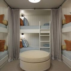 Built In Bunk Beds, Cottage, boy's room, Hickman Design Associates