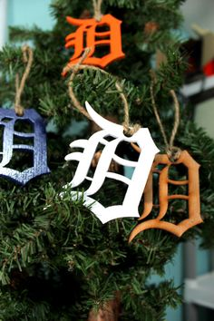 Recycled wood Detroit Tigers Ornament by ThePaperMarriage on Etsy, $4.00