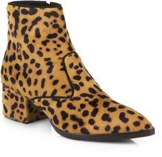 Animal print Calf Hair Chelsea Boots - Lyst