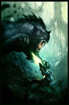 Saber-Tooth Cat attacks, Turok 2 concept art. Alien Creatures, Fantasy  Creatures 7f8b15346f