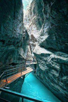 Canyon Walk, Aare Gorge, Switzerland.