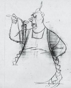 Drawing by Milt Kahl Robin Hood
