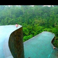Hanging infinity pool in the Ubud Hanging Gardens, Bali