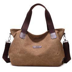 Durable Canvas Big Capacity Shoulder Bags Simple Crossbody Bags - US$27.61