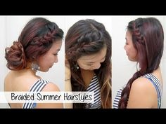 Versatile Braided Summer Hairstyles l Cute & Easy School Hairstyles - YouTube