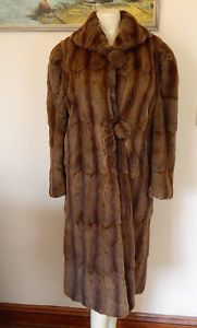 IN the 1970s my sister wore a coat quite like this one.  It had belonged to my mom.  VINTAGE 1930s/1940S FULL LENGTH MUSQUASH FUR COAT