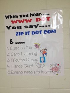 "Here's one for the high-tech classroom. When you hear ""www dot,"" you say ""zip it dot com."" 