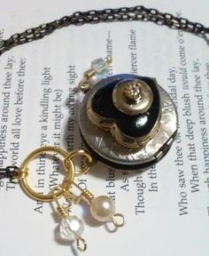 """Locket """"For Four Loves"""" Vintage Necklace by DreamAddict on Etsy"""