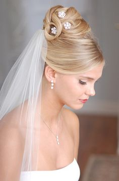 Beautiful wedding hairstyle with veil  #bridal