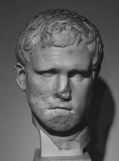 Portrait of Marcus Vipsanius Agrippa Roman Emperor, Romans, Military, Statue, Portrait, Classic, Marble, Art, Sculptures