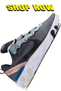 Running Shoes For Men - Nike Mens React Element 55 Running Shoes - With High Quality Rubber Sole & Nike React technology delivers very smooth experience. Best Running Shoes, Nike Men, Nike Shoes, Smooth, Technology, Sneakers, Nike Tennis, Tech, Tennis