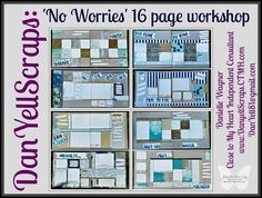 Oh My - now this is a workshop! I have taken the No Worries Paper Pack (which is perfect for summer) and turned it into some really adora...