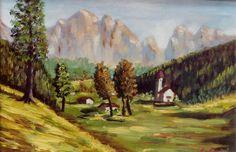 """Alto Adige"" Olio su cartone telato"