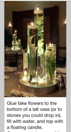 Pretty & inexpensive centerpiece