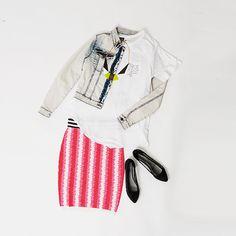 #newoutfit #shoes #jacket #skirt #t-shirt #springsummer2015