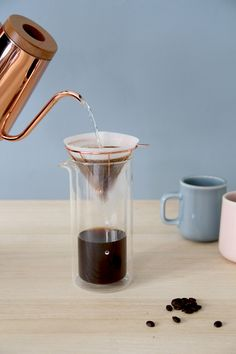 Toast Living has partnered with Milk Design to create a five-piece ceramic, glass and copper-coloured homeware range for coffee lovers.