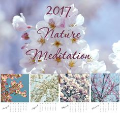 "2017 Calendar, Nature Photography Calendar, Desk Calendar, Mini Calendar, Floral Tree Calendar, Mini 5""x7"" Art Calendar. Very lovely 2017 Calendar with fine art nature photography. Perfect gift to yourself or people you care. The calendar will make a beautiful stocking stuffer as well as a birthday gift, anniversary gift, hostess gift, etc. Title: 'Nature Meditationr' Image Size: 5"" x 5"" Page Size: 5"" x 7"" Binding: loose leaf (unbound)."