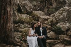 This bohemian bridal shoot was inspired by the Australian bush surrounding Hanging Rock, a sacred and holy place in Australia's history. Australian Bush, Bridal Shoot, Bohemian, Couple Photos, Stems, Wedding Dresses, Couple Shots, Drift Wood, Bride Dresses