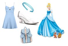 """High school Cinderella"" by mqweber on Polyvore featuring Disney and Touch Ups"