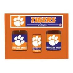 Clemson Tigers TailGate Set (Hot Sauce, BBQ sauce and Salsa)