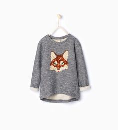 Sequinned fox sweatshirt-Sweatshirts-Girl | 4-14 years-KIDS | ZARA United States