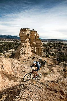 Mountain biking near Santa Fe, NM