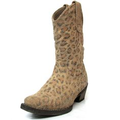 Roper Kids Distressed Leopard Print Snip Toe Boots 09-018-0923-0055 Kids Boots, Cowboy Boots, Toe, Fashion, Moda, Fashion Styles, Western Boot, Fashion Illustrations, Western Boots