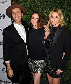 Star power: Kristen Stewart with hair stylist Adir Abergel, left, and makeup artist Jillian Dempsey